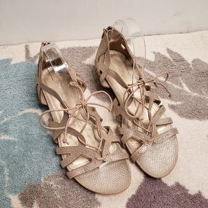 Kenneth Cole Reactions Gold Gladiator Sandals